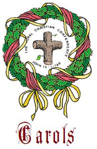 CC Christmas Carols Wreath and link to carol sheet of some words