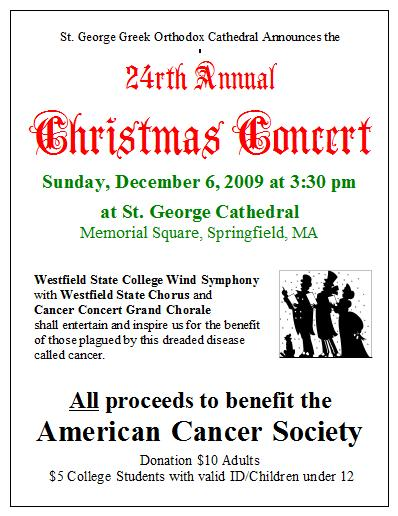 Cancer Concert and link to larger pdf